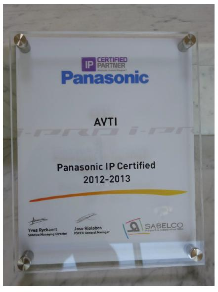 Certification IP en VDO-Surveillance - Panasonic System Communication Europe